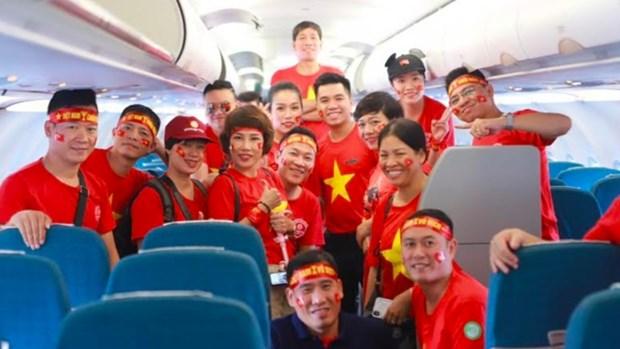 第30届东南亚运动会:越航增加飞往菲律宾航班班次 满足广大球迷看球出行需求 hinh anh 1