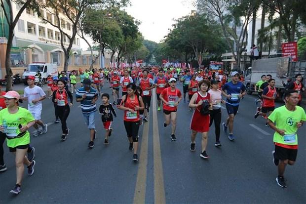 2019年胡志明市国际马拉松赛吸引近1.3万人参加 hinh anh 2