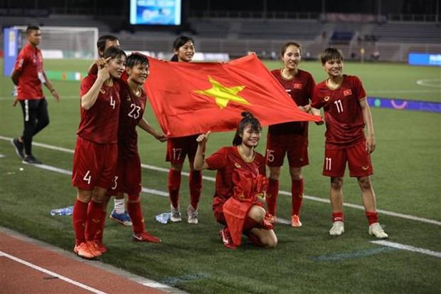 第30届东南亚运动会:越南国家女子足球队卫冕冠军 hinh anh 1