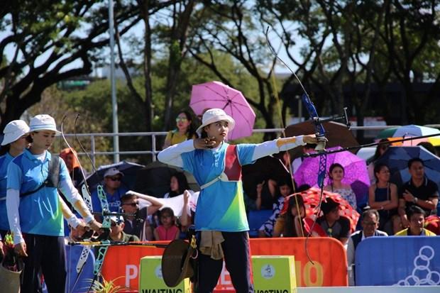 第30届东南亚运动会:翠薇在竞技健美操女子单人项目夺金 hinh anh 1
