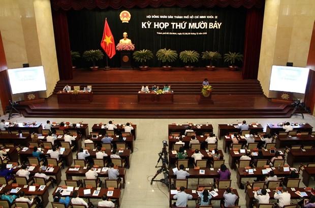 胡志明市人民议会第17次会议闭幕:全市上下团结一心 下决心完成各既定目标任务 hinh anh 1