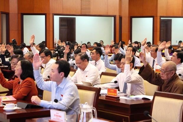 胡志明市人民议会第17次会议闭幕:全市上下团结一心 下决心完成各既定目标任务 hinh anh 3