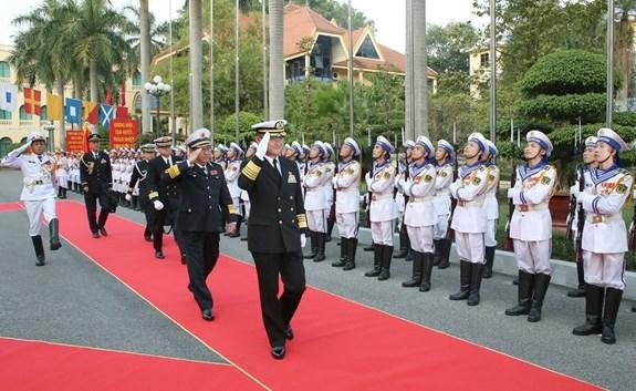 越南与日本两国海军加强合作 hinh anh 1