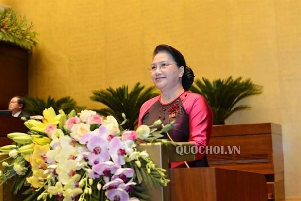 第30届东南亚运动会:阮氏金银向越南体育代表团致贺信 hinh anh 1