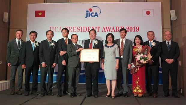芹苴大学荣获日本国际协力机构主席的名誉奖 hinh anh 2