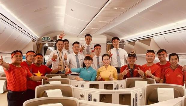 第30届东运会: 越航安排波音787-10专机接体育健儿回国 hinh anh 2