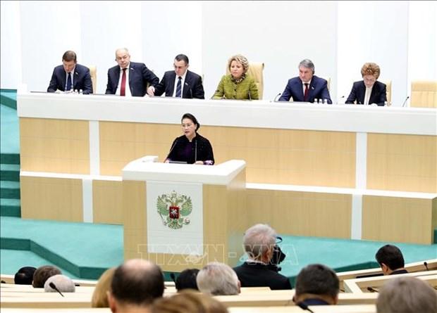 越南国会主席阮氏金银出席俄罗斯联邦委员会全体会议 hinh anh 1