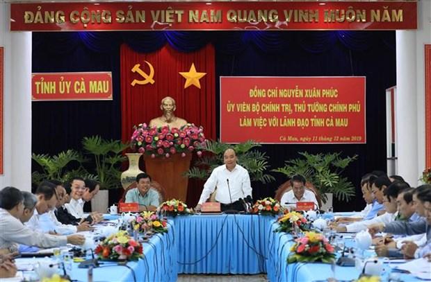 政府总理阮春福: 金瓯省需注重发展高技术企业模式 hinh anh 1