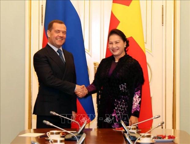 越南国会主席阮氏金银会见俄罗斯总理 hinh anh 1