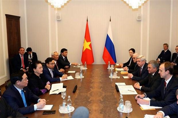 越南国会主席阮氏金银与俄罗斯国家杜马主席沃洛金举行会谈 hinh anh 2