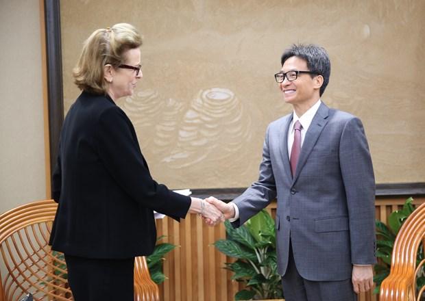 武德儋副总理会见联合国开发计划署驻越代表凯特林·维森 hinh anh 1