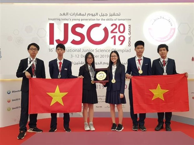 越南学生代表团在2019年IJSO竞赛中荣获3枚金牌和3枚银牌 hinh anh 1