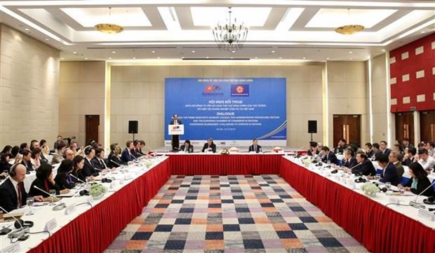 越南政府与越南欧洲商会代表进行对话 hinh anh 1