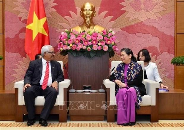 越南国会常务副主席丛氏放会见古巴司法部代表团 hinh anh 1