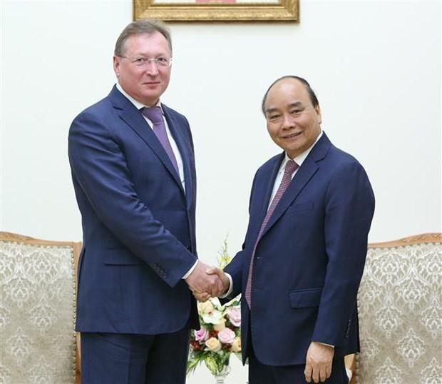 政府总理阮春福会见俄罗斯扎鲁别日石油公司总经理谢尔盖·伊万诺维奇 hinh anh 1