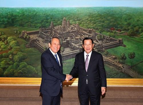 张和平建议柬埔寨支持东盟在东海问题上的共同立场 hinh anh 1