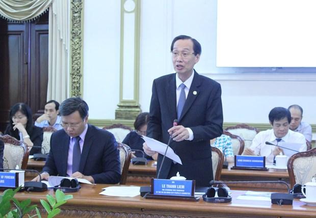 胡志明市呼吁美国企业对城市发展领域进行投资 hinh anh 1