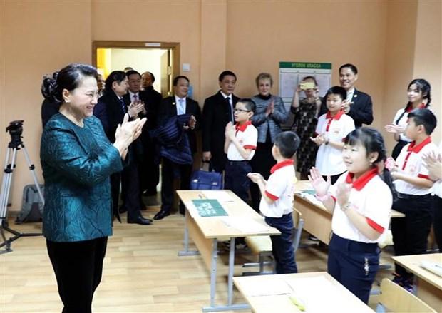 阮氏金银造访白俄罗斯首都明斯克越南语培训班 hinh anh 1