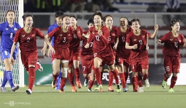 越南国家女足在2019年第四季度世界排行榜上上升2位 居亚洲第6位 hinh anh 1