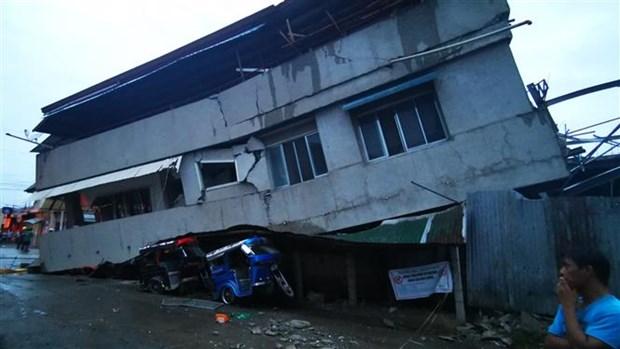 菲律宾地震造成的伤亡人数上升 hinh anh 1