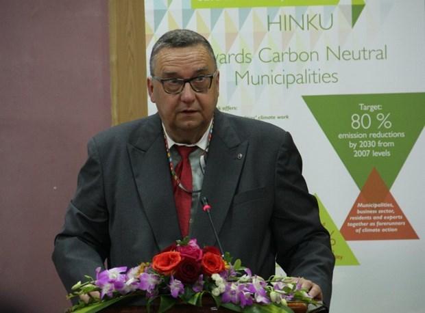 """芬兰帮助越南建立""""无温室气体排放城市""""的模式 hinh anh 1"""