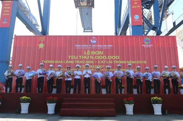 越南西贡新港总公司迎来第500万个标准箱 hinh anh 1