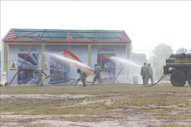 越南-柬埔寨陆地边界地区搜救演习成功举行 hinh anh 1