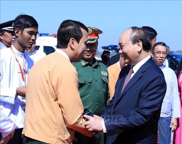 越南政府总理阮春福圆满结束对缅的访问之旅 hinh anh 1