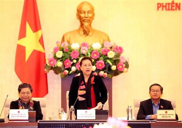 越南第十四届国会常委会第四十次会议落下帷幕 hinh anh 1