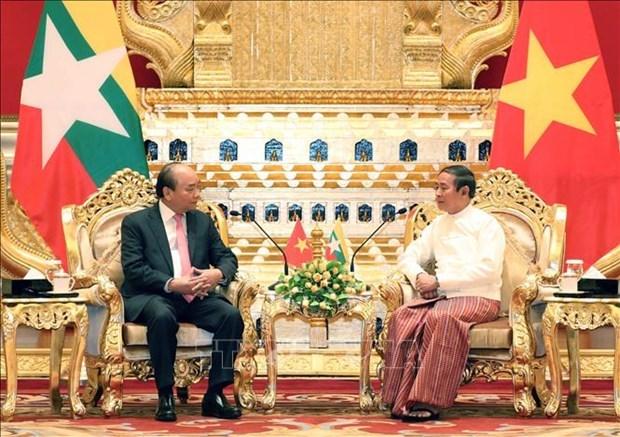 关于巩固越南-缅甸全面合作伙伴关系的联合声明 hinh anh 1
