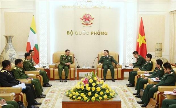 缅甸国防军总司令敏昂莱对越南进行正式访问 hinh anh 1