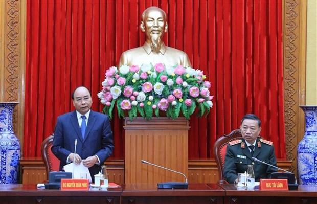 政府总理阮春福出席中央公安党委会议 hinh anh 3