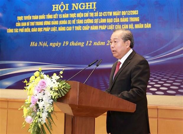 政府副总理张和平:革新法律宣传普及教育工作 hinh anh 2