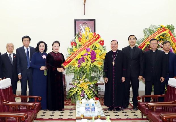 阮氏金银:河内总教区对国家建设和发展事业做出了积极的贡献 hinh anh 1