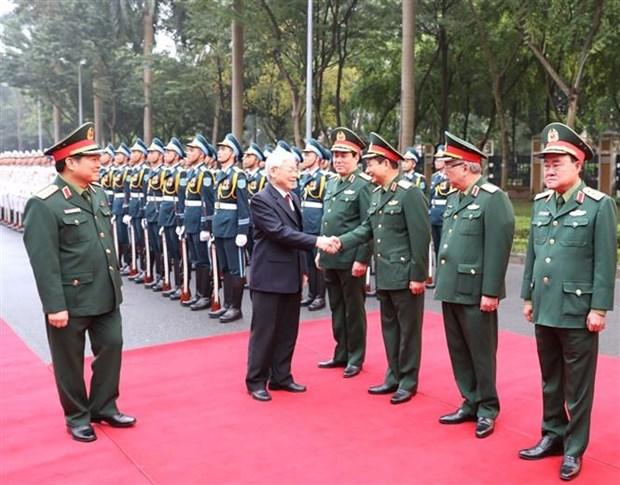 英雄的越南人民军建军75年:在党的光辉旗帜下稳步前进 hinh anh 2