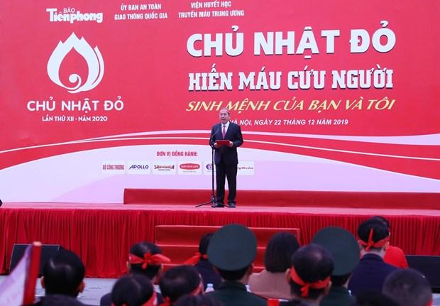 """第十二次""""红色星期日""""无偿献血活动采血量预计达4.5-5万单位 hinh anh 1"""