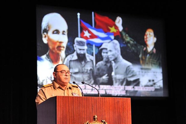 越南人民军建军75周年纪念典礼在古巴首都隆重举行 hinh anh 2