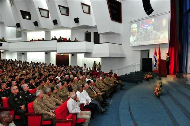 越南人民军建军75周年纪念典礼在古巴首都隆重举行 hinh anh 1