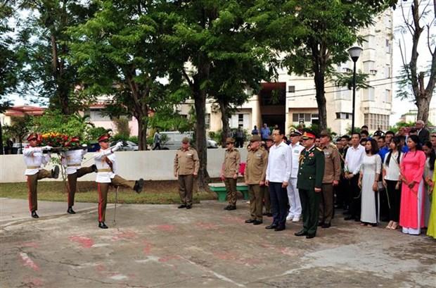 越南人民军建军75周年纪念典礼在古巴首都隆重举行 hinh anh 3