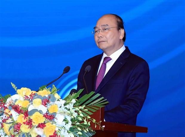 阮春福总理:政府与企业同行 hinh anh 2