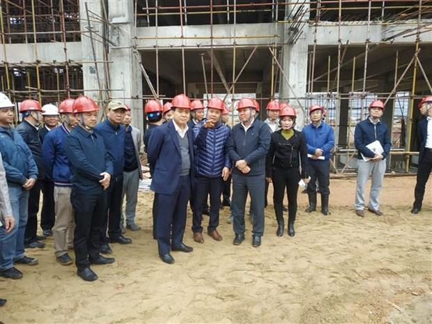 河内市领导视察越南最大垃圾焚烧发电厂项目进展情况 hinh anh 1