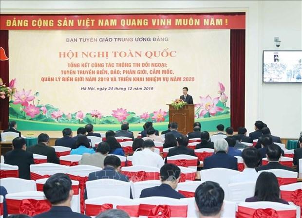 越共中央对外部长高度评价对外通讯报道工作 hinh anh 1