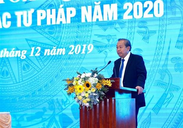 政府常务副总理张和平出席司法部举行的2020年工作部署会议 hinh anh 2