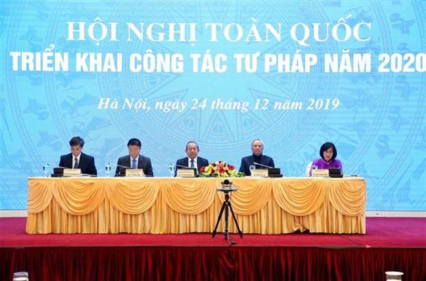 政府常务副总理张和平出席司法部举行的2020年工作部署会议 hinh anh 1
