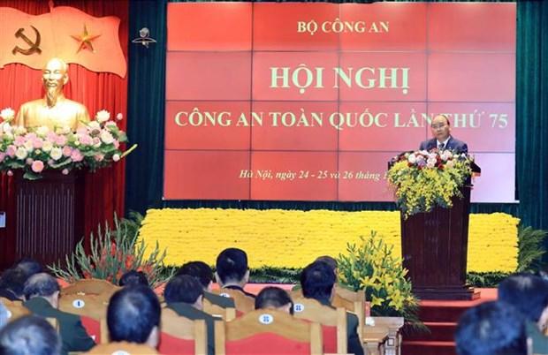 阮春福总理出席全国公安会议 hinh anh 2