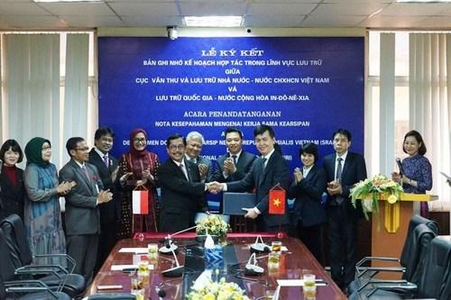 越南与印尼促进档案领域的合作 hinh anh 1