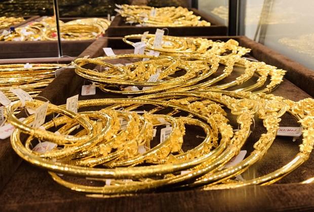 12月25日越南国内黄金价格超过4200万越盾 hinh anh 1