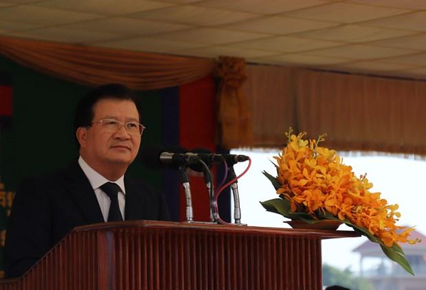 由越南援建的柬埔寨首座模范边境集市竣工 柬首相洪森出席 hinh anh 2