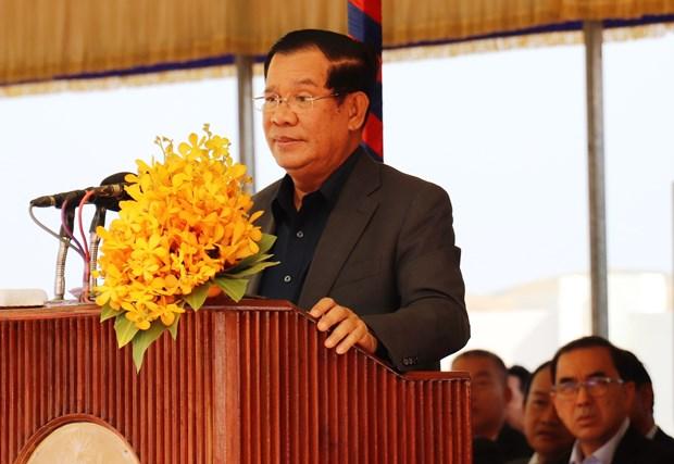 由越南援建的柬埔寨首座模范边境集市竣工 柬首相洪森出席 hinh anh 1