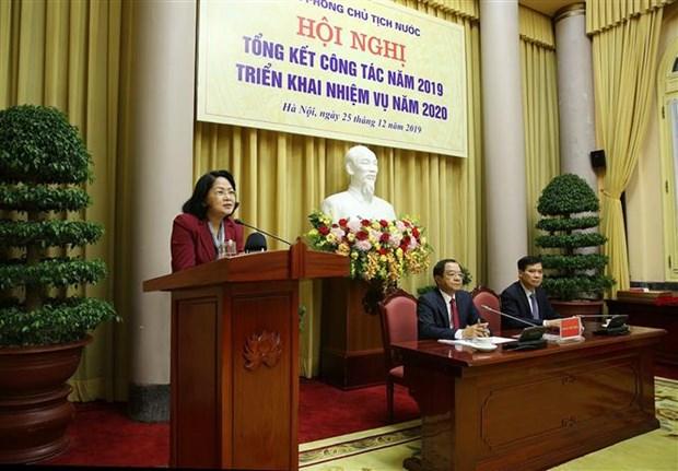 邓氏玉盛出席国家主席办公厅举行的2020年任务部署会议 hinh anh 2